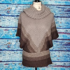 🤟Bamboo Traders Grey Ombre Cowl Neck Sweater SZ S